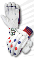 MB Malik Gold Batting Gloves