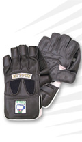 MB Malik Gold Wicket Keeping Gloves